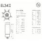 EL34II JJ Electronic - Daten und Sockelbelegung