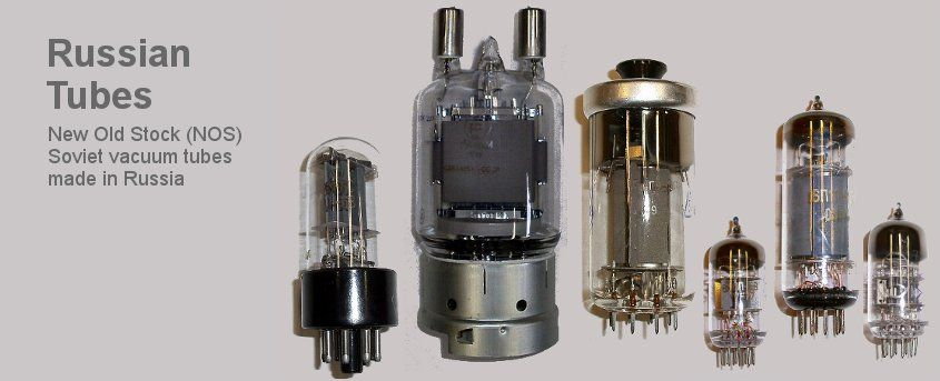 New Old Stock (NOS) Soviet vacuum tubes made in Russia.